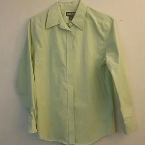 Lands end long sleeved collared shirt